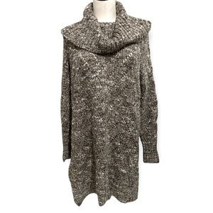 Ladies Ruff Hewn Cozy Cowl Neck Knit Tunic Sweater